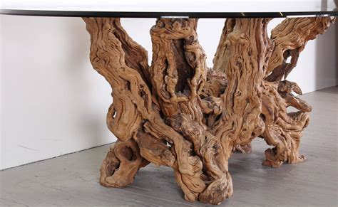 Tree Trunk Dining Table Vintage Grapevine Tree Trunk Dining Table 1970 At 1stdibs