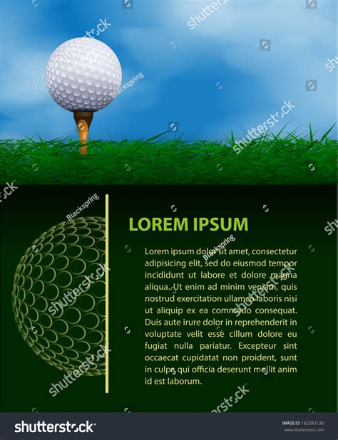 Golf Design Template Stock Vector Illustration 162283130 Shutterstock Golf Design Template