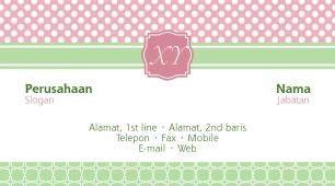 template kartu nama girly contoh cartu nama girly