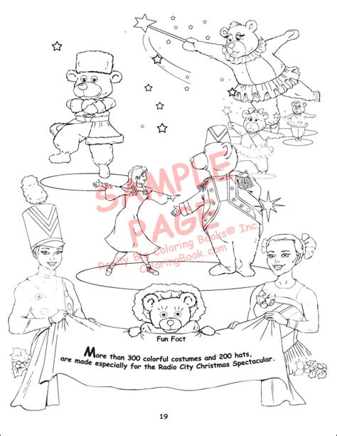 rockettes coloring page wholesale coloring books radio city christmas