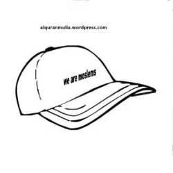 mewarnai gambar benda topi anak muslim alqur anmulia