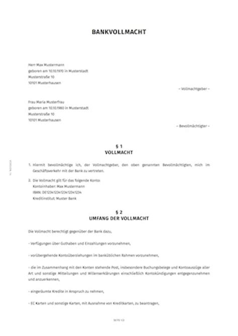 Muster Patientenverfügung Bundesministerium Der Justiz Vorsorgevollmacht Unitymedia Kndigungsschreiben Vollmacht Seite 1 Muster V Ollmacht