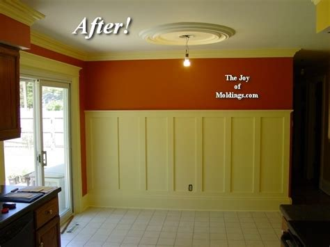 how tall should wainscoting be before after tall craftsman wainscoting in dining room