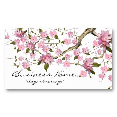 Cherry Blossom Tree Card Template by 17 Best Images About Cherry Blossom Business Cards On