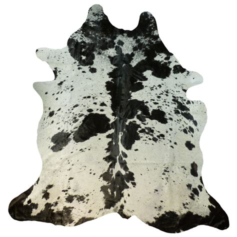 Black And White Cowhide Black And White Spotty Cowhide Large