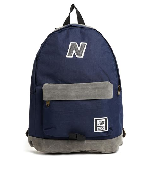 Backpack New Balance Blue new balance 420 backpack in navy in blue navy lyst