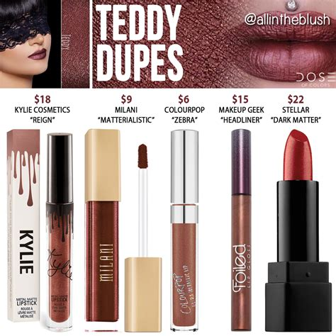 dose of colors cosmetics dose of colors teddy liquid lipstick dupes all in the blush