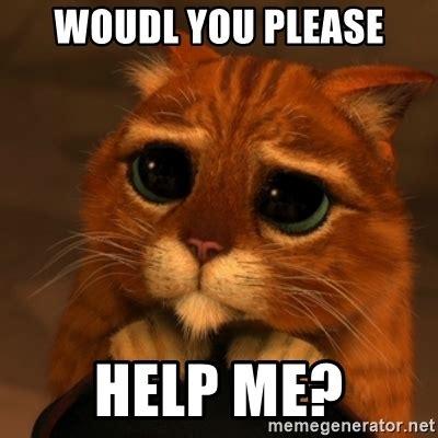 help meme woudl you help me shrek cat v1 meme generator