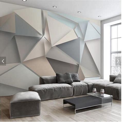 large  stereo triangle modern minimalist style wallpaper