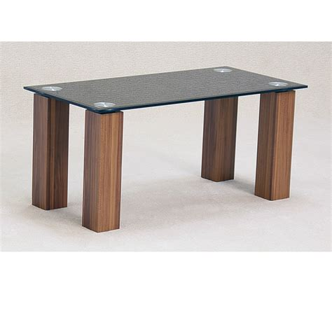 mirage black glass oak coffee table forever furnishings