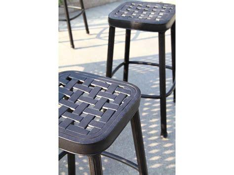 darlee cast aluminum outdoor patio round square bar stool darlee outdoor living backless cast aluminum antique
