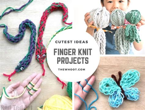 finger knit projects finger knitting projects