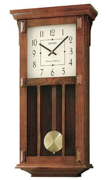 Seiko Qxh045blh Mission Style Wall Clock