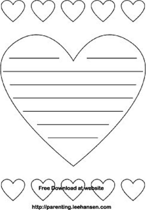 heart notepaper with lines coloring page printables