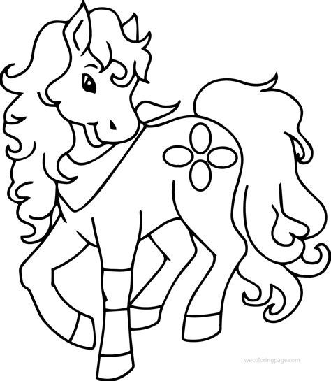 coloring pages cute pony pony horse cute free download coloring page wecoloringpage