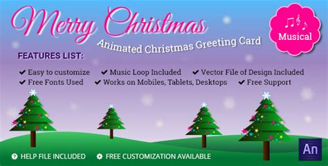 musical animated greeting card merry christmas  themesloud codecanyon