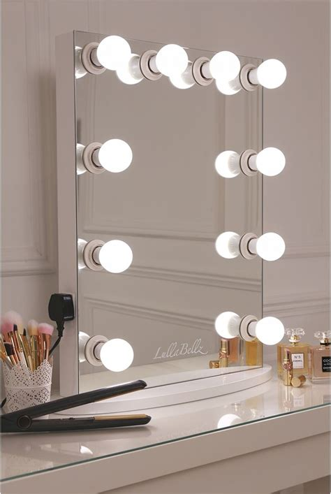 light up mirrors bathroom simplistic crisp white finish embedded light up