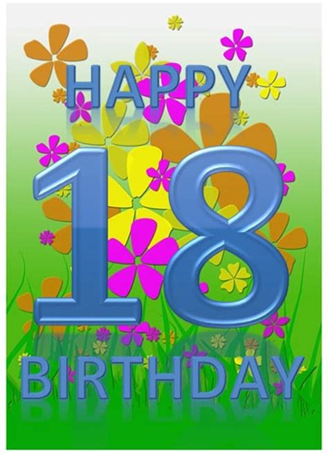 18th birthday card template 18th birthday card template with flowers and nature