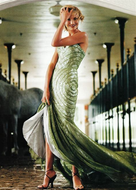 Cameron Diaz In Couture by Cameron Diaz In Givenchy Haute Couture Shades Of Green