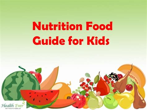 food for nutrition food guide for