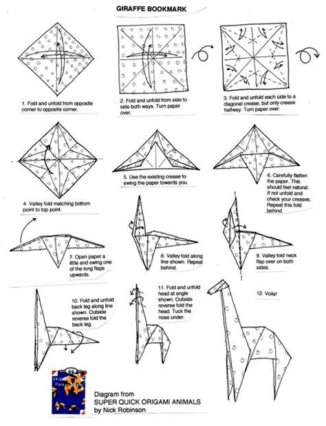 cara membuat origami jerapah melipat kertas www dedewinasis com