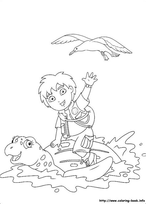 dora and diego coloring page diego coloring pages