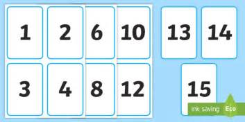 printable number flashcards 1 15 1 15 number cards digits numbers flash cards washing line