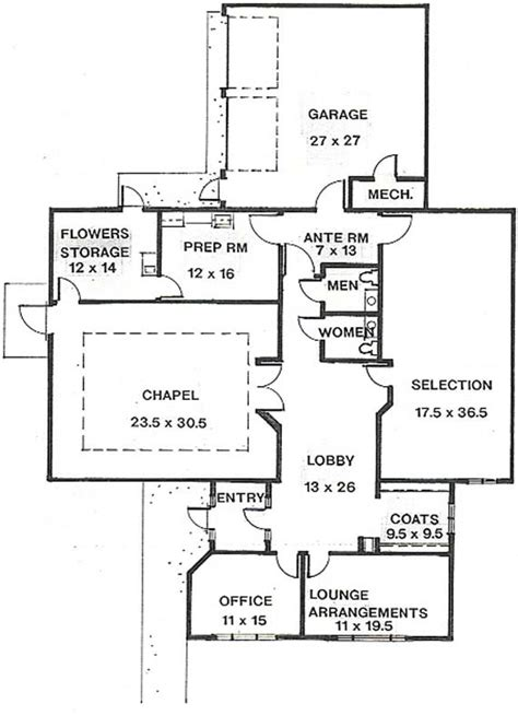 Beautiful Memorial Plan Funeral Home 8 Funeral Home Floor Home Floor Plans Layouts