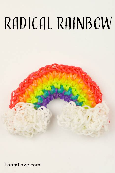 cara membuat gelang rainbow loom how to make a radical rainbow on a hook