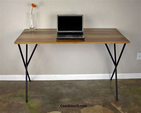 Modern Solid Wood Desk Modern Desk Industrial Minimalist Solid Wood Rustic Mid Century Loft