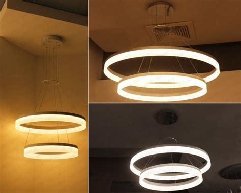 suspended light fixtures 2 rings modern circle led pendant suspended ceiling lighting fixtures circle led ring pendant