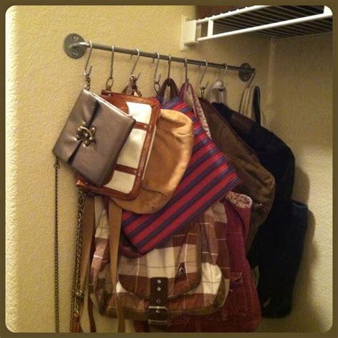 purse rack closet purse rack and purses