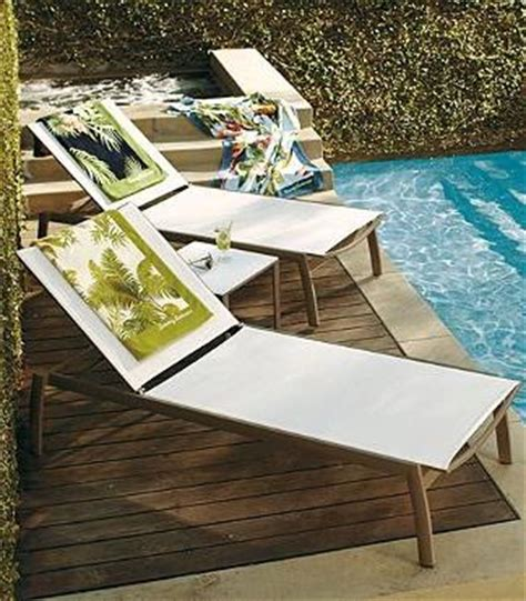 frontgate pool lounge chairs frontgate s newport set of two chaise lounge chairs are