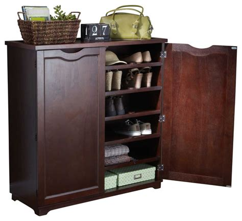 Shoe Storage Dresser by Wooden Shoe Dresser Transitional Shoe Storage By Merry Products