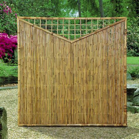garten sichtschutzelemente aus bambus