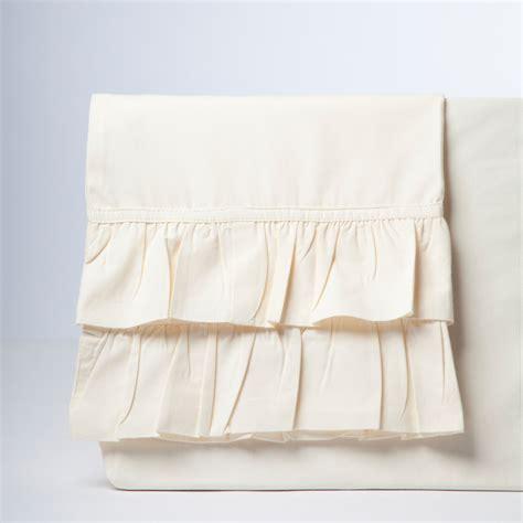 French Ruffle Sheet Set Ivory Ruffle Bed Set