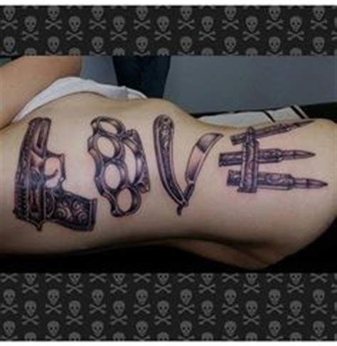 love tattoo weapons gun love weapons tattoo this is awesome tattoo ideas