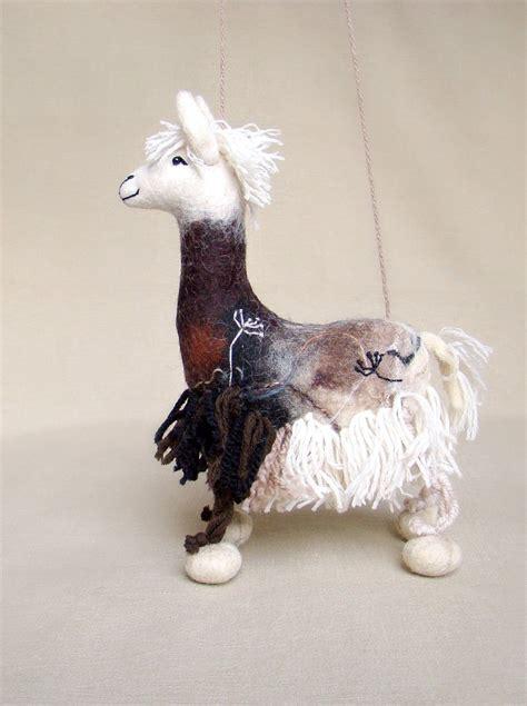 Handmade Marionettes - debora felt llama marionette puppet handmade