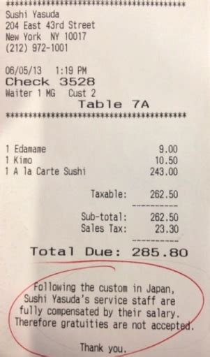 Can You Put A Tip On A Restaurant Gift Card - japanese sushi restaurant in nyc bans tipping public radio international