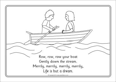 row your boat copyright row row row your boat colouring sheets sb8331 sparklebox