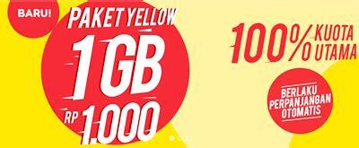 cara membeli dan daftar paket indosat yellow 1 gb hari paket internet murah indosat ooredoo 1gb hanya 1 ribu