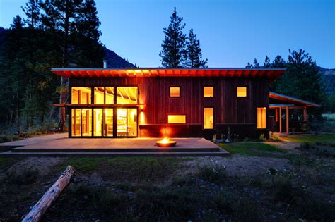 modern cabin rustic exterior seattle by johnston architects mazama cabin contemporary exterior seattle by