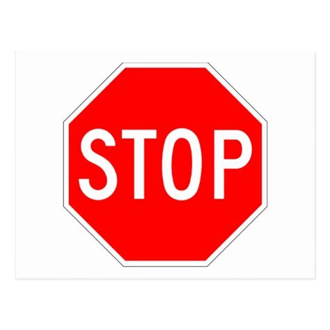 Sign Postcard stop sign customizable postcard zazzle