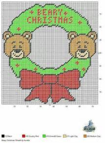 christmas wreath plastic canvas pinterest wreaths