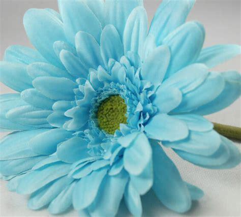 artificial silk flowers gerbera teal silk gerbera daisy bouquet aqua 12 flowers