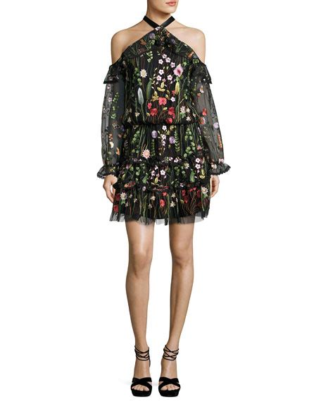 Garden Embroidered Dress Adeline Embroidered Garden Dress Black