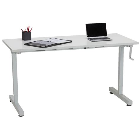 manual height adjustable desk matrix manual height adjustable desk 1500mm ebay