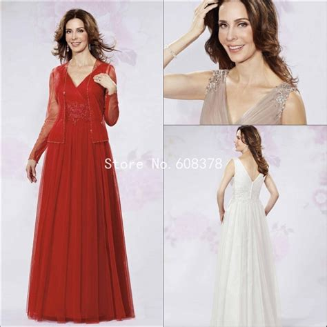 by color cheap prom dresses 2016 mother of bride gown 2016 elegant red chagne tulle a line mother of the