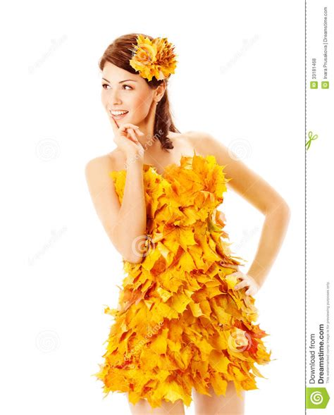 45215 White Autumn Leaves S M L Dress Le180118 Import autumn in dress of maple leaves white stock photo image of holding curly 33181468