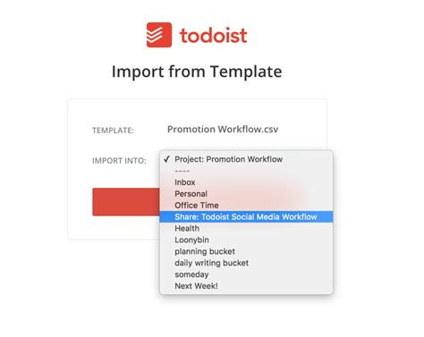 todoist templates work smarter not harder an importable